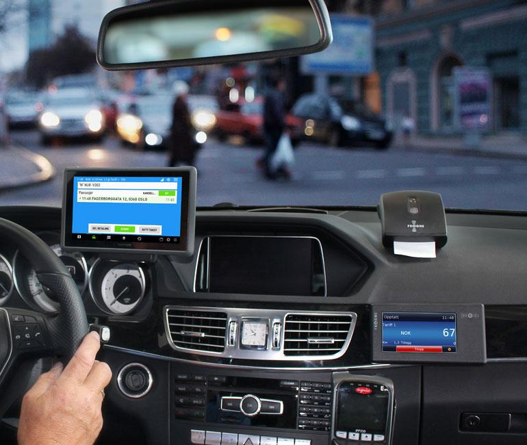 Frogne ställer ut de senaste taxameterlösningarna för taxibranschen på Norges Taxiforbunds Fackkonferens 2018.