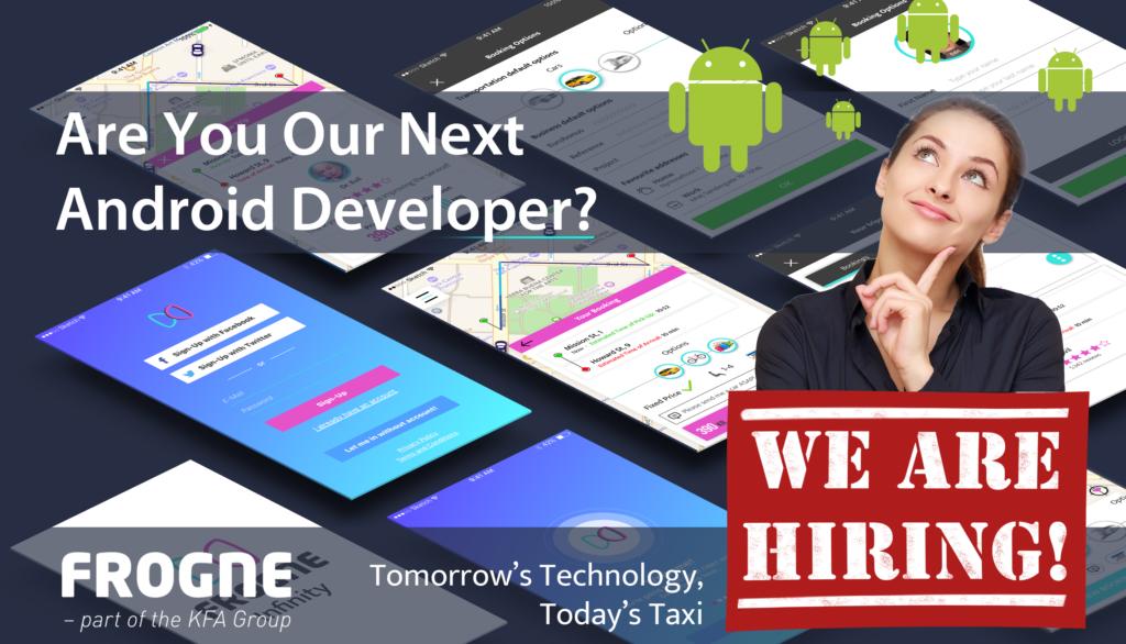 Vil du være med til at udvikle driftssikre Apps med en vellykket brugeroplevelse for tusindvis af taxikunder i hele Norden? – så er det nu du skal kontakte Frogne!