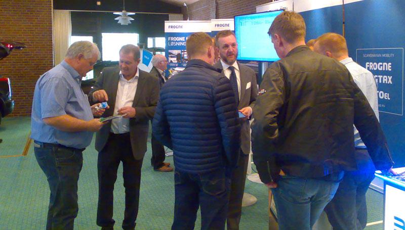På Dansk Taxi Råds årsmöte fanns ett stort intresse hos taxicentraler, transportörer och chaufförer av att lära sig mer om Frognes digitala lösningar för alla typer av taxiverksamheter.